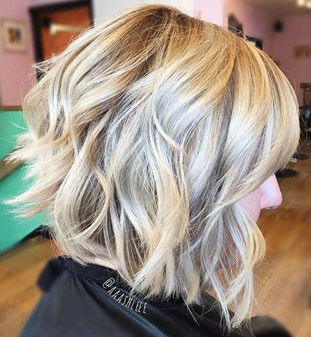 Blonde Bob Choppy Hair