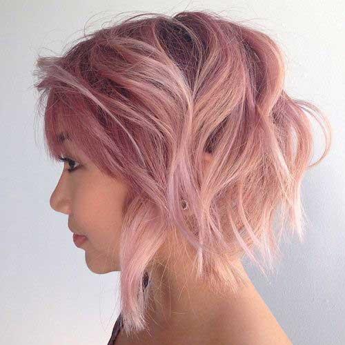 Pink Bob Haircuts