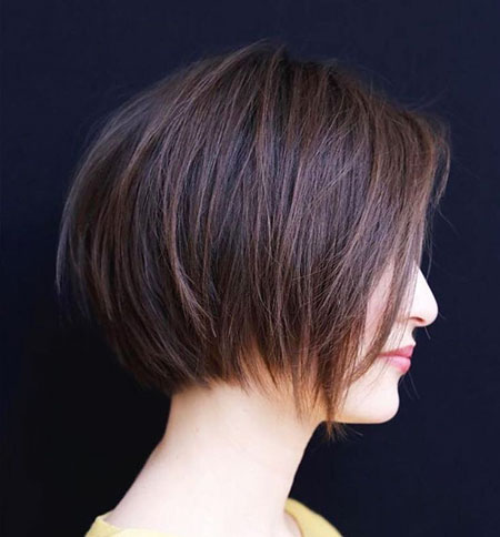 Layered Bob Short Brown