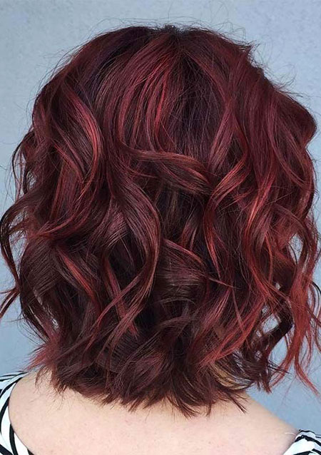 Hair Burgundy Ombre Red