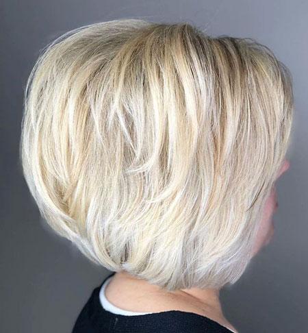 Bob Blonde Choppy Chopped