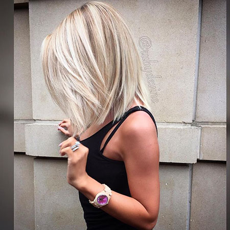 Hair Blonde Bob Rounded