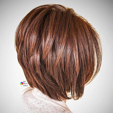 Bob Hair Balayage Brunette