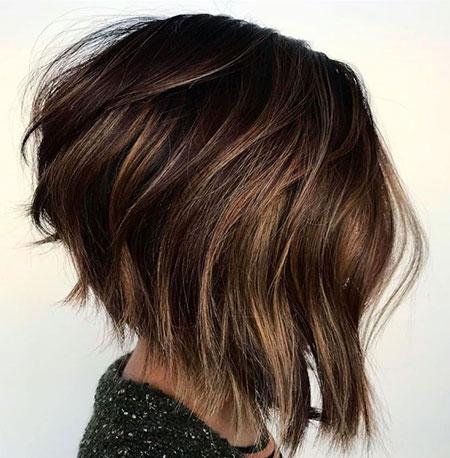 Bob Hair Choppy Brown