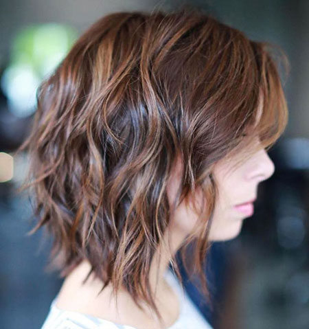 Wavy Choppy Length Brown