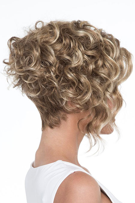 Curly Bob Blonde Part