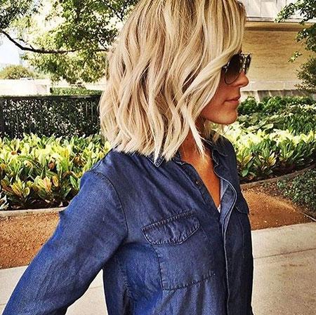 Blonde Shoulder Length Hair, Hair Bob Blonde Choppy