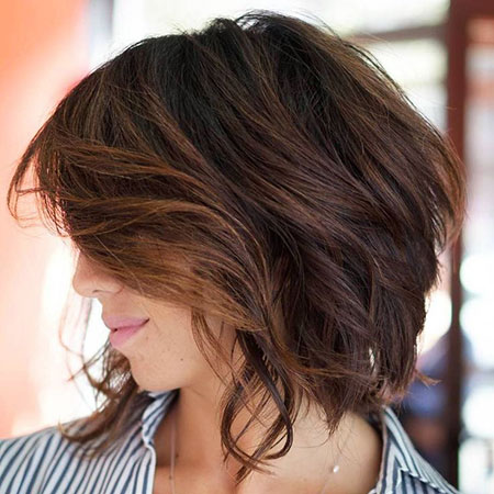 Choppy Layered Bob Angled