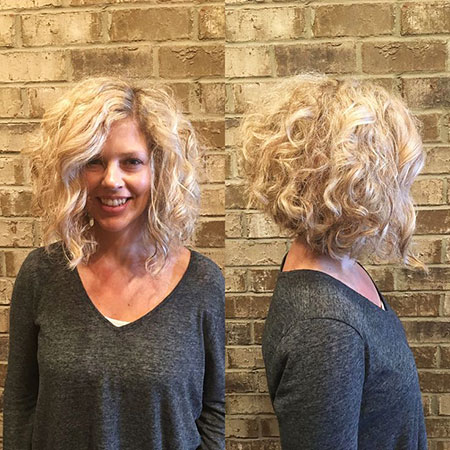 Curly Bob Inverted Hair