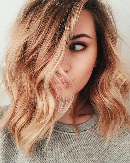 Hair Blonde Gold Length
