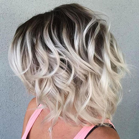 Blonde Hair Wavy Platinum