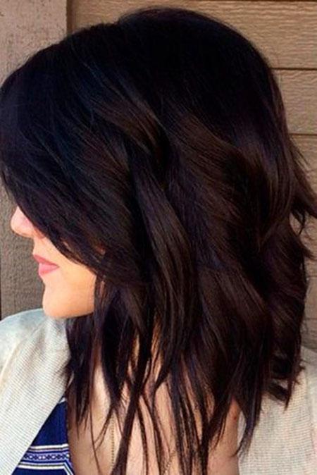 Brown Hair Choppy Black