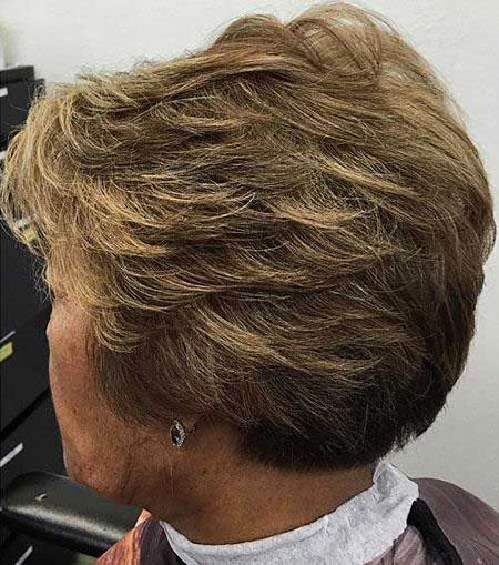 Stacked Cut, Short Older Pixie Black