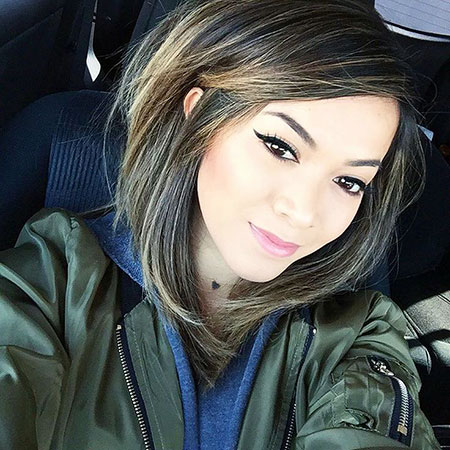 Cute Side Parted Lob, Hair Short Beauty Makeup