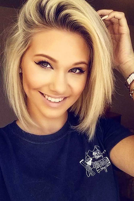 Hair for Round Face, Short Hair Blonde Face