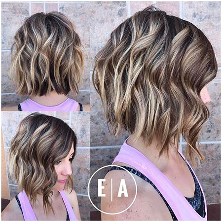 Long Graduated, Bob Wavy Choppy Bobs