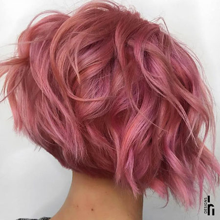 Hair Gold Short Rose
