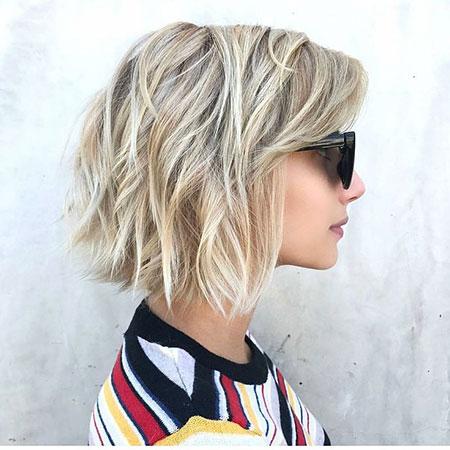 Bob Blonde Choppy Hair