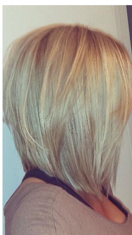 Stacked Bob Haircut, Bob Bobs Blonde Medium