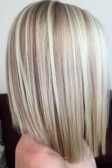 Blonde Bob Bobs Länge