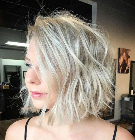 Blonde Wavy Choppy Ash