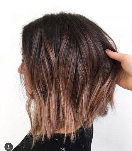 Balayage Hair Short Brown