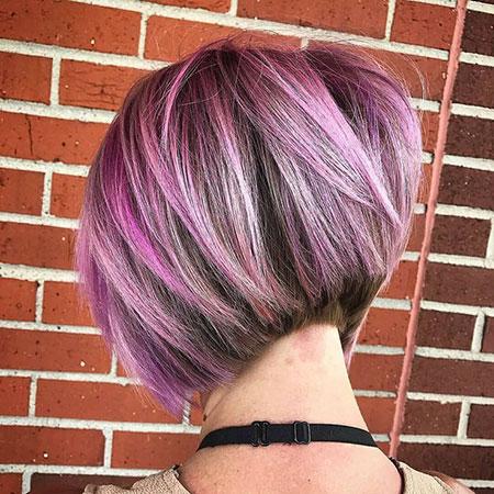 Hair Hairtyles Bob Purple