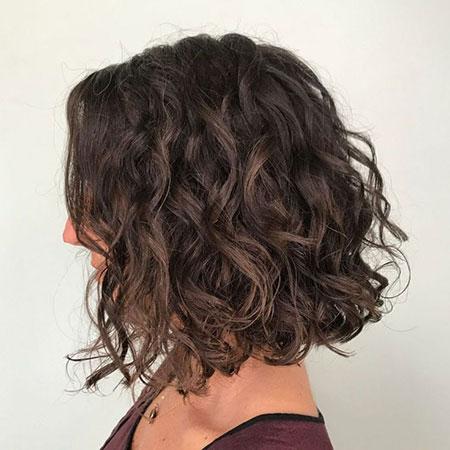 Bob Curly Brown Hair