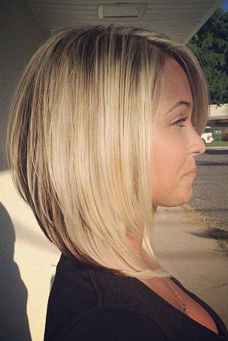 Bob Blonde Mittellanges Haar