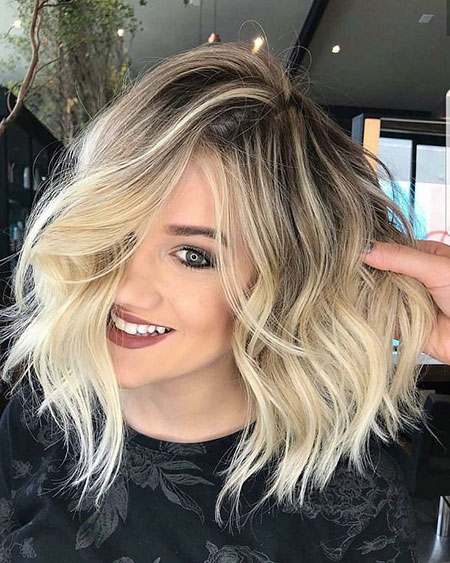 Blonde Balayage Lob Hairtyles