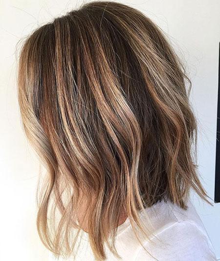 Hair Brown Highlights Caramel