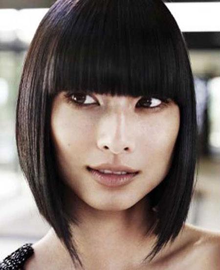 Cute Bangs, Bob Hair Chinese Hairtyles