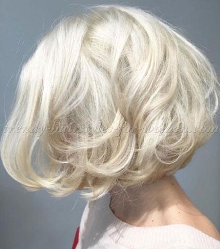 Blonde Platinum Hair Bob