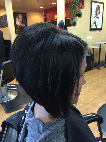 Thick Hair, Bob Line Bobs Stacked