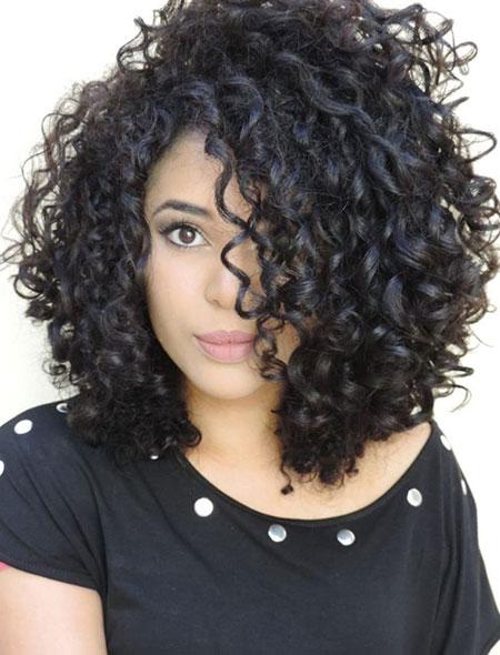 Natural Curly, Curly Hair Bob Long