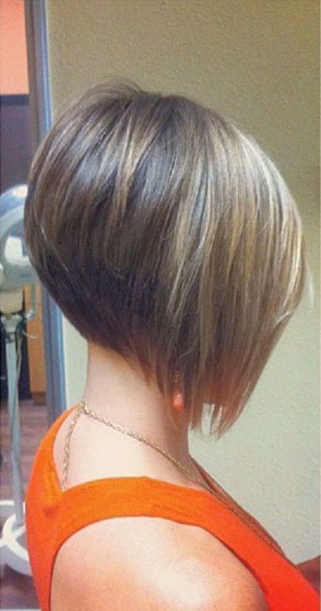 Blonde Colored Front, Bob Short Hairtyles Layered