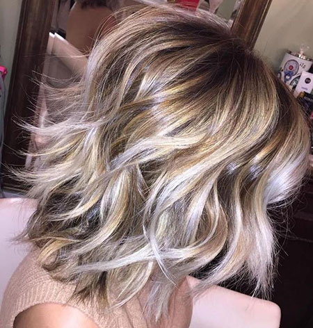 Blonde Hair Bob Balayage