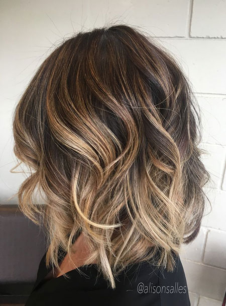 Balayage Caramel Hair Bob