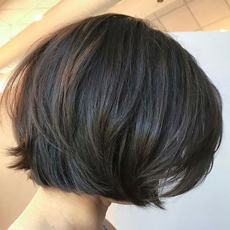 Bob Short Layered Brown