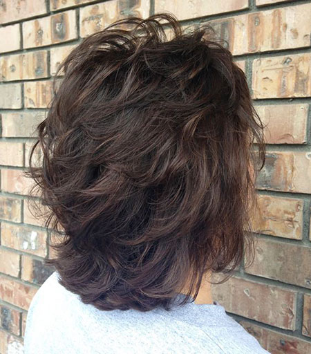 Back View of Bob Haircut, Layered Haircuts Length Hairtyle