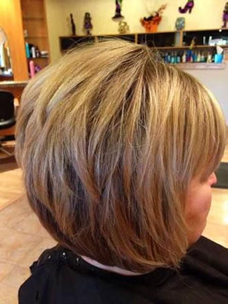 Layered Bob Haircut with Bangs, Bob Short Layered Bobs