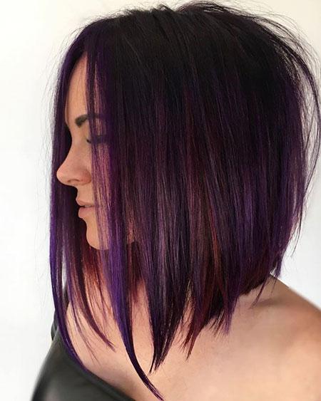Bob Purple Balayage Tinted