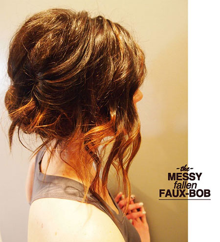 Updo Messy Long Hairtyles
