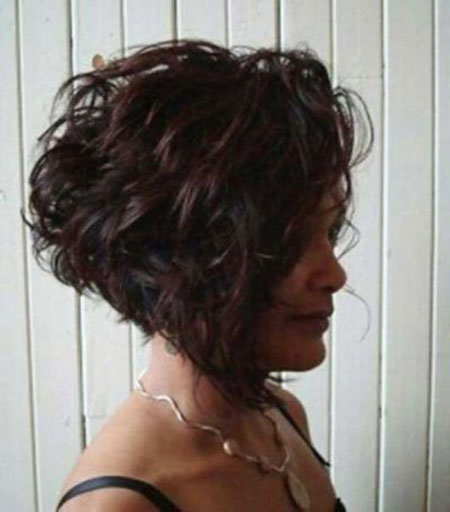 Short Curly Hair Inverted