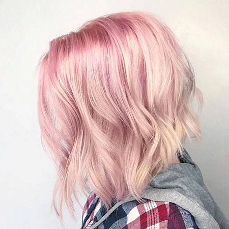 Pink Hair Pastel Choppy