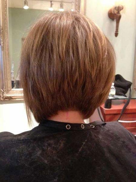 Thick Hair Layers, Bob Hair View Back