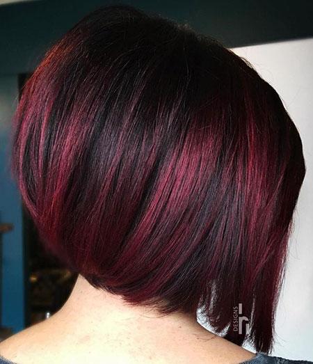 Dark Red Libalayageghts, Bob Burgundy Hair Brown