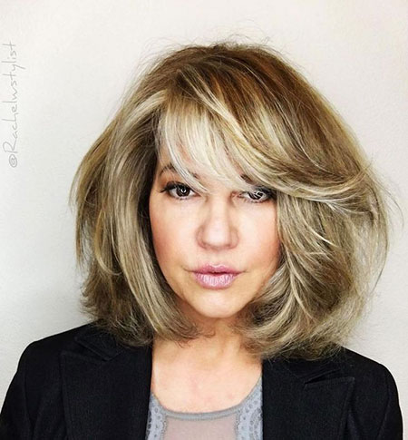 Hair Color Trend, Bob Blonde Bangs Haircut