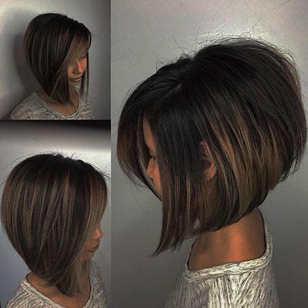Thick Bob Hair Style, Short Layered Bob Brown