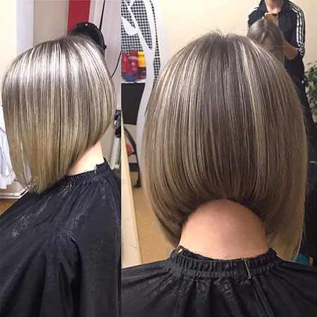 Bob Gray Balayage Hair